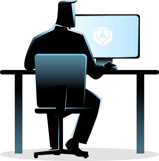 data scientist at computer